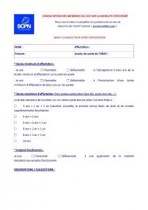 Questionnaire sur la mobilité statutaire du CCD