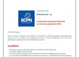 Agenda - Septembre 2015